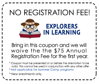 Online coupon code for young explorers